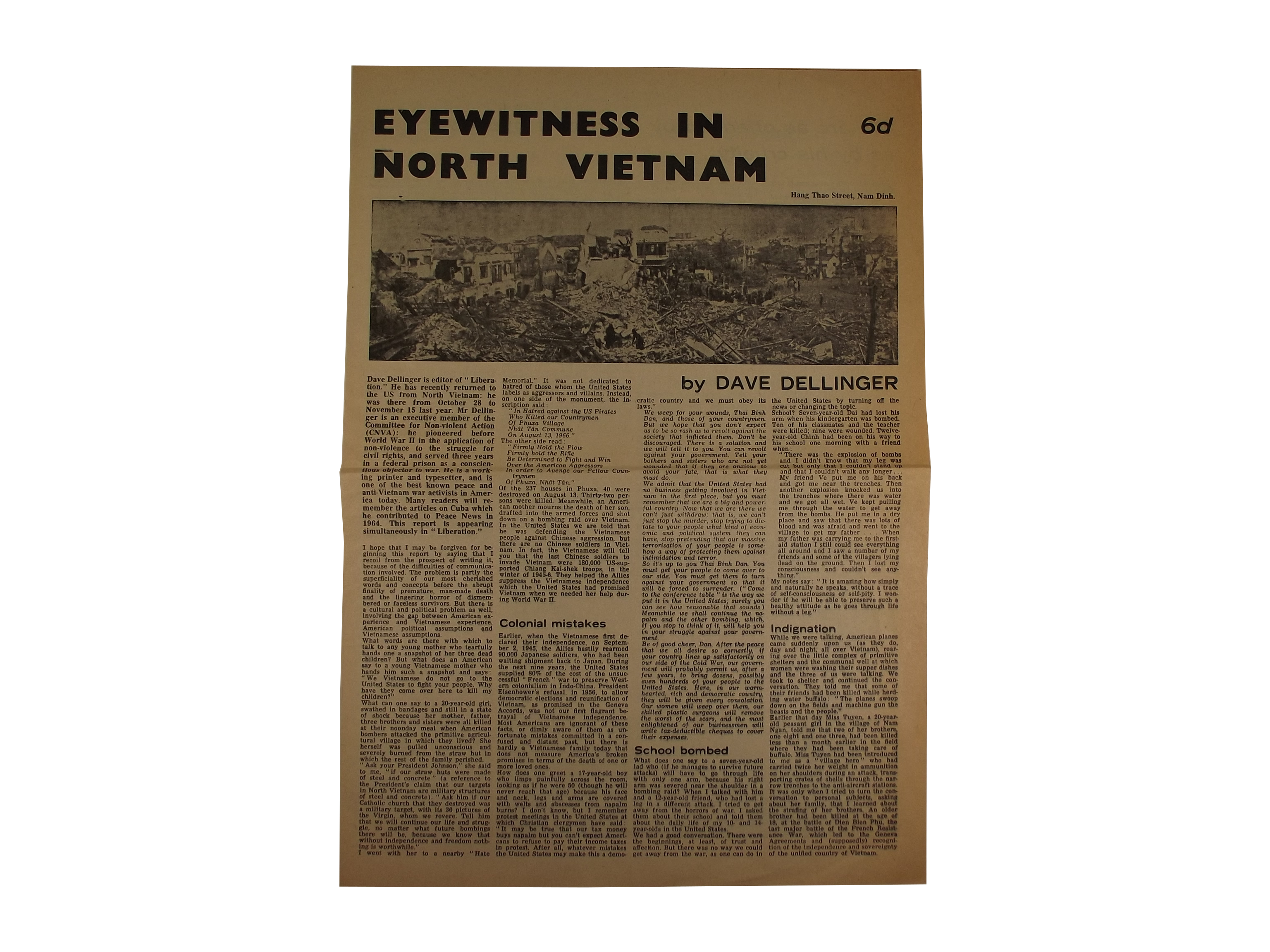 Eyewitness North Vietnam Broadsheet