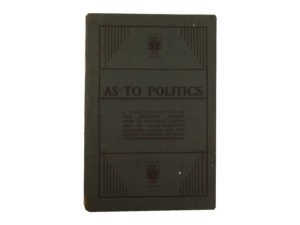 As to Politics pamphlet