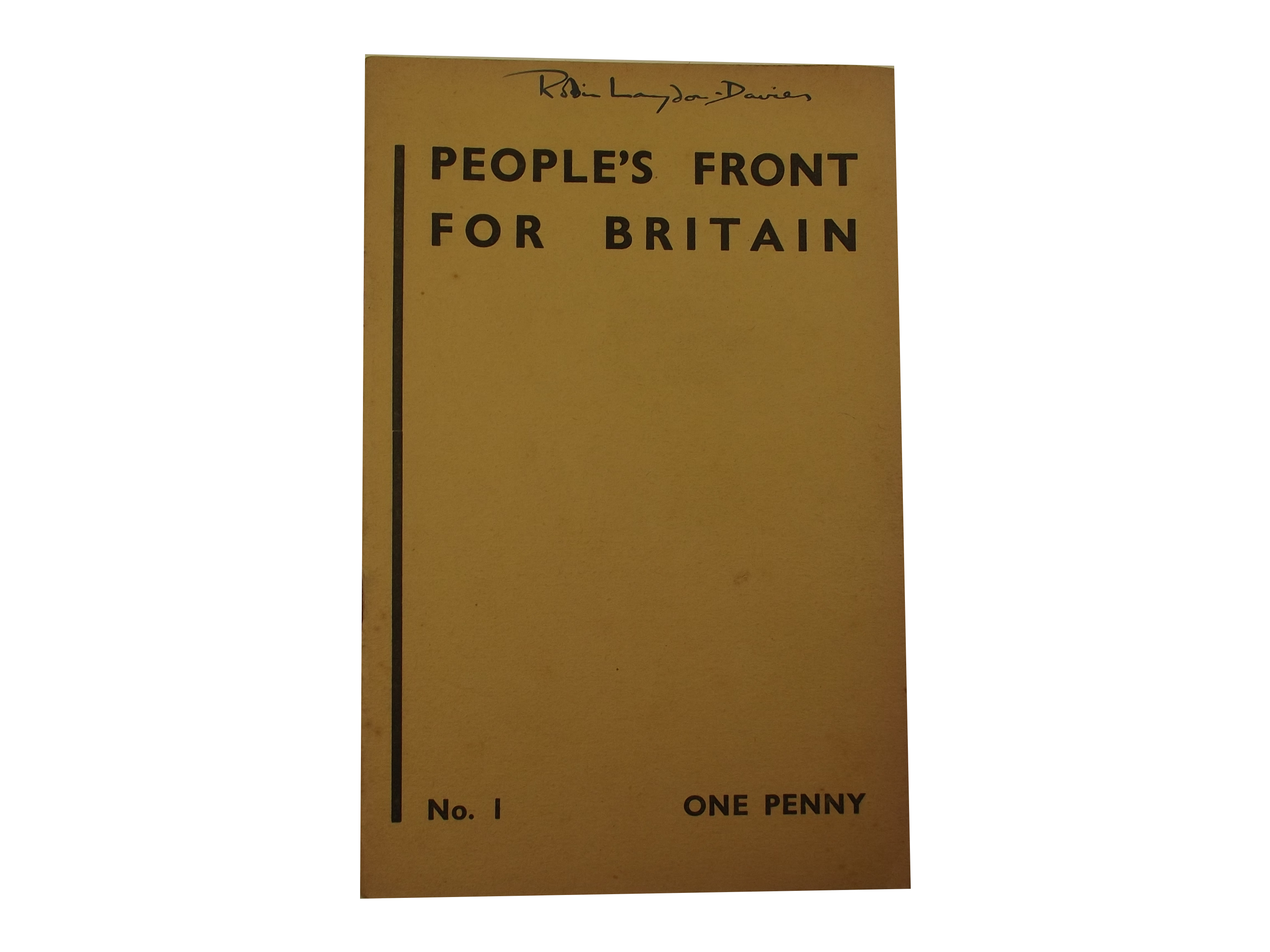 People's Front for Britain pamphlet