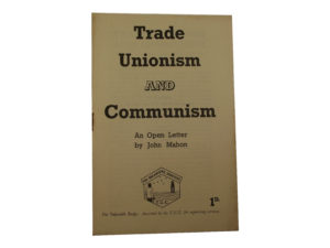 Trade Unionism and Communism pamphlet
