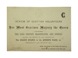 Review of Scottish Volunteers ticket