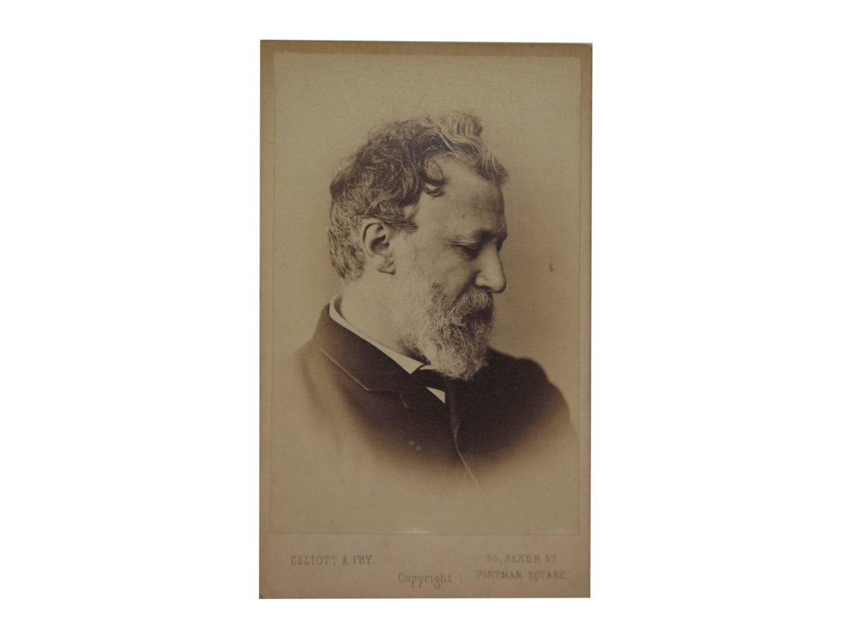 Carte De Visite Of Robert Browning