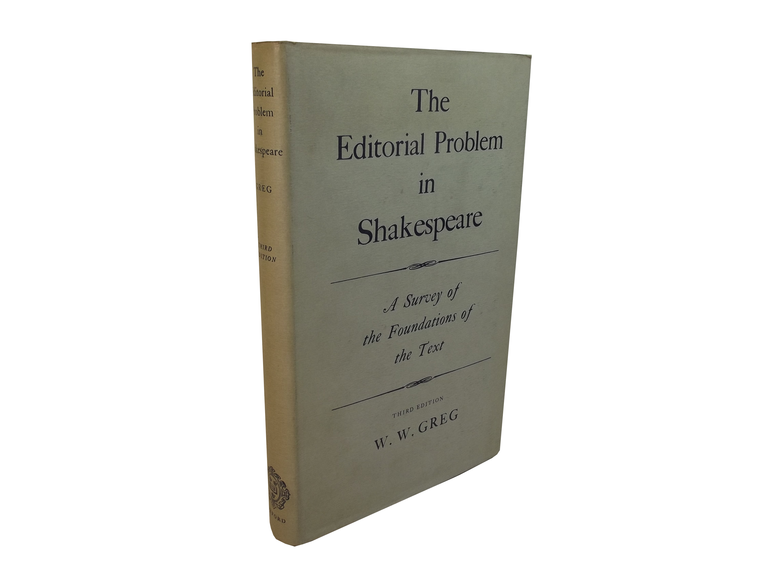 Editorial Problem in Shakespeare