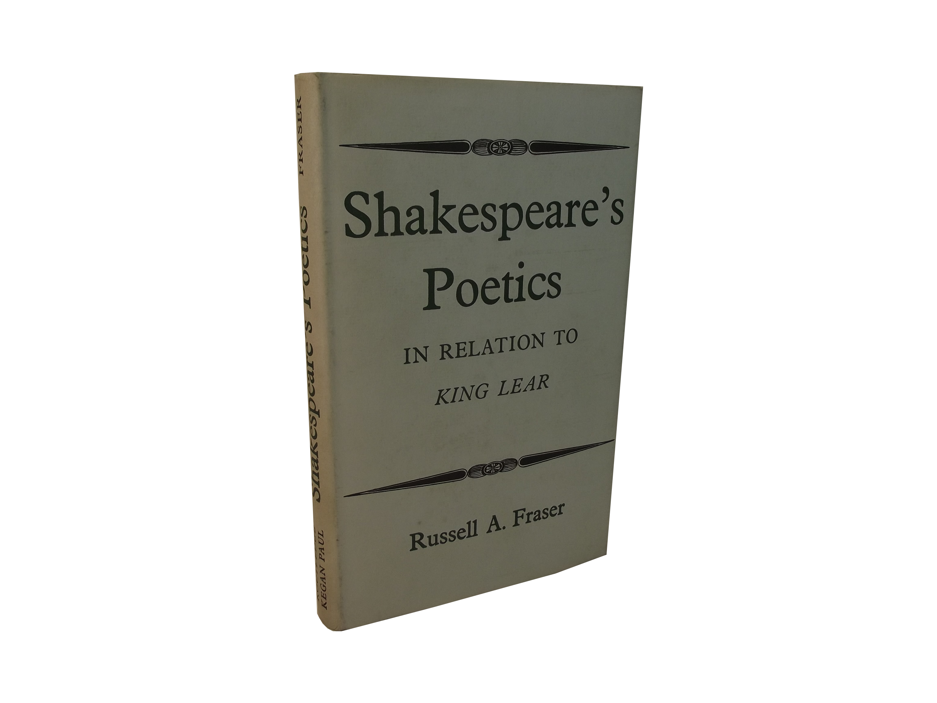 Shakespeare's Poetics in Relation to King Lear