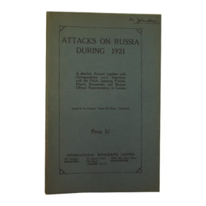 Attacks on Russia During 1921