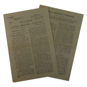 Bulletins of the Russian Liberation Committee