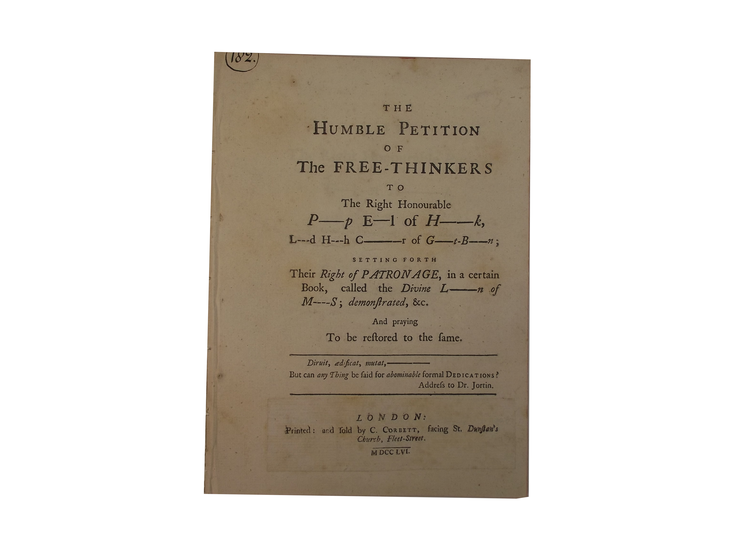Humble Petition of the Free-Thinkers