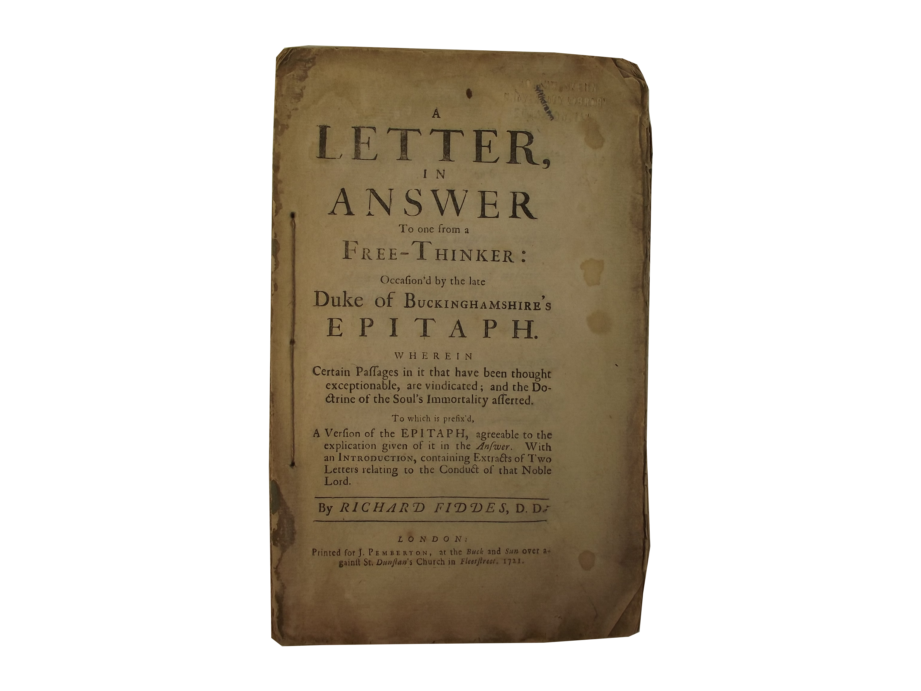 Letter in Answer