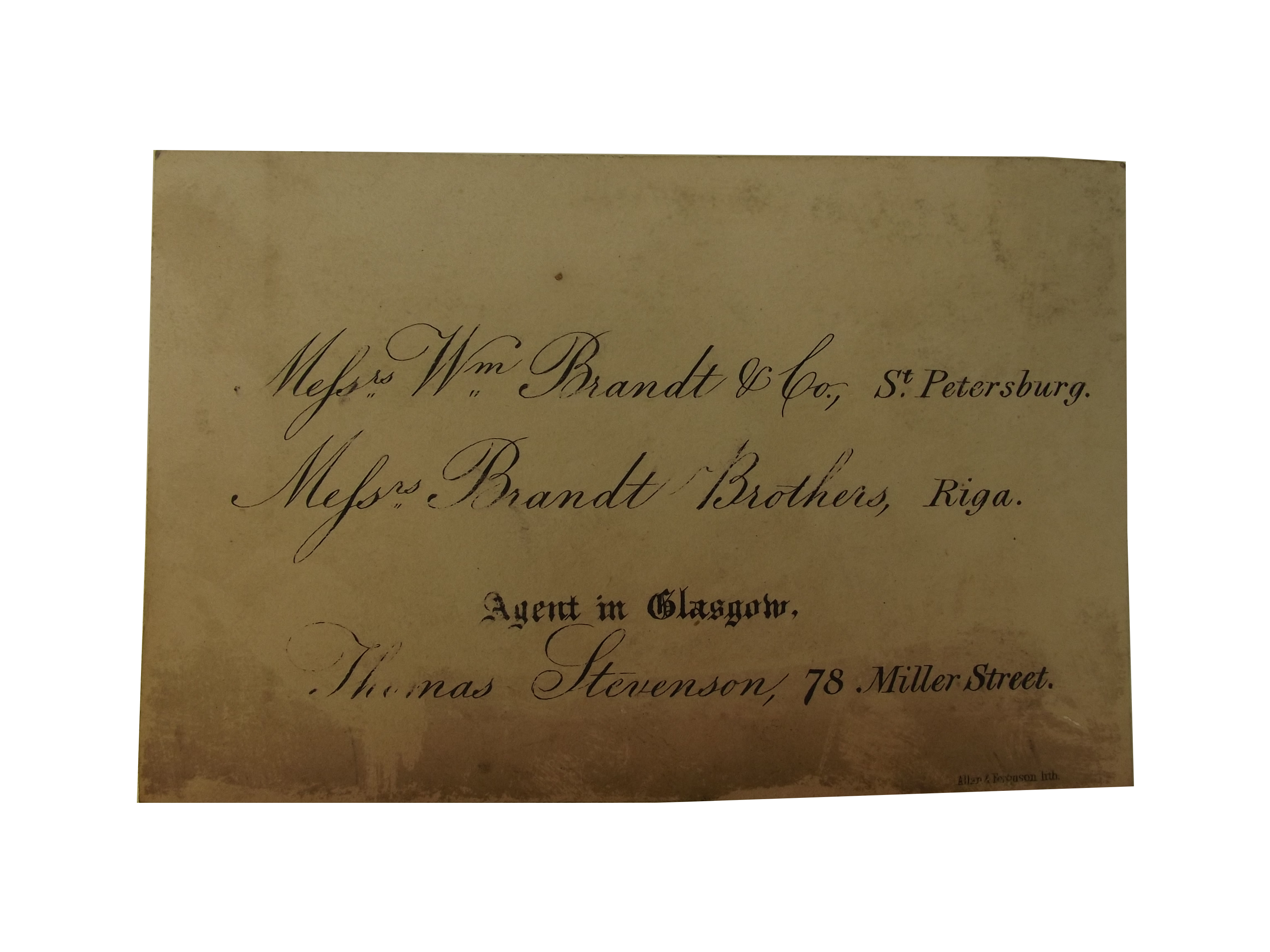 Messrs. Wm. Brandt & Co
