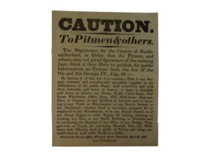 Caution to Pitmen Broadside