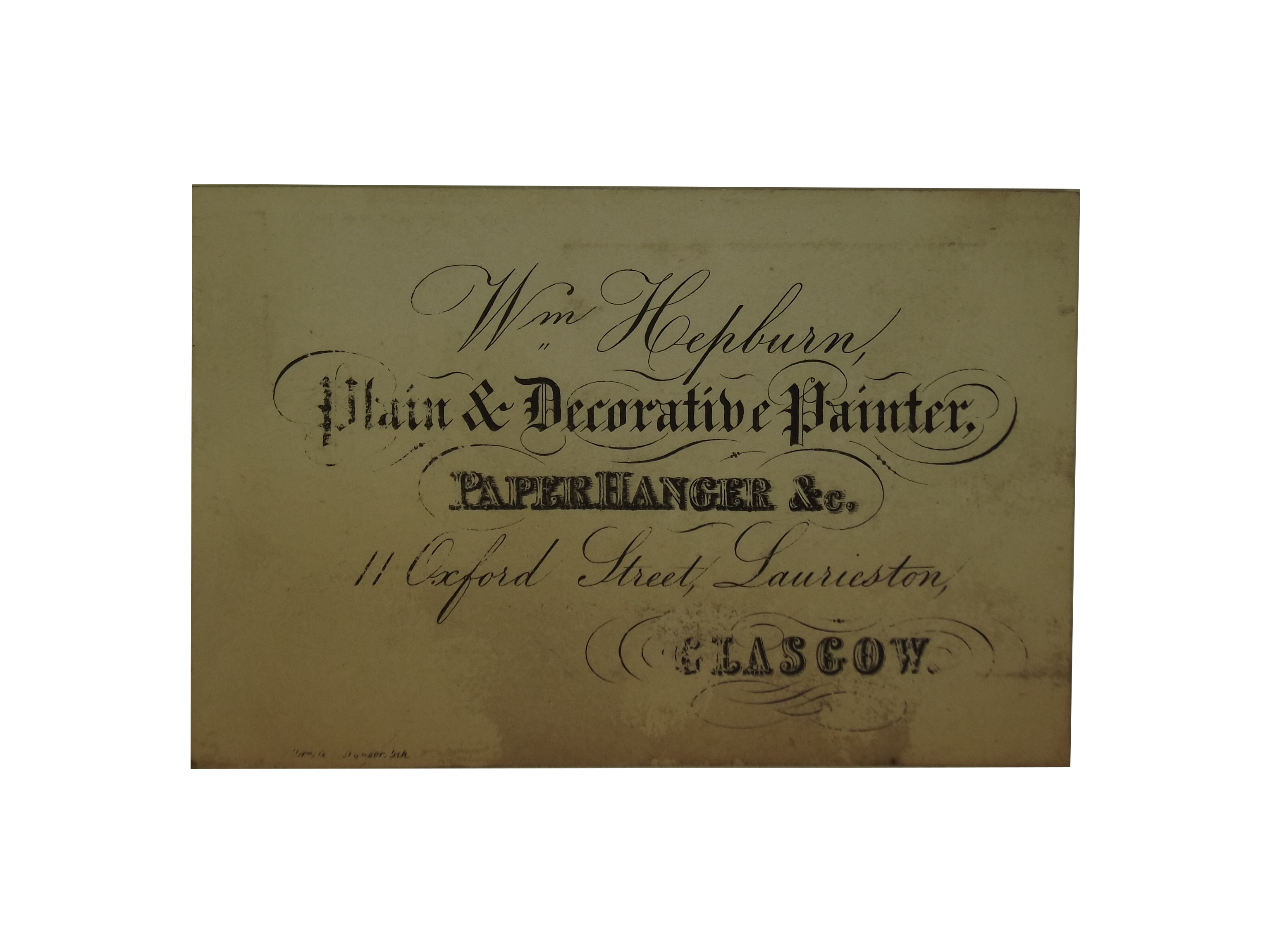 Painter and Paper Hanger Trade Card