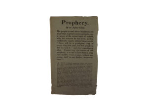 Prophecy and Infanticide Broadside