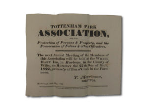 Tottenham Park Association Annual Meeting